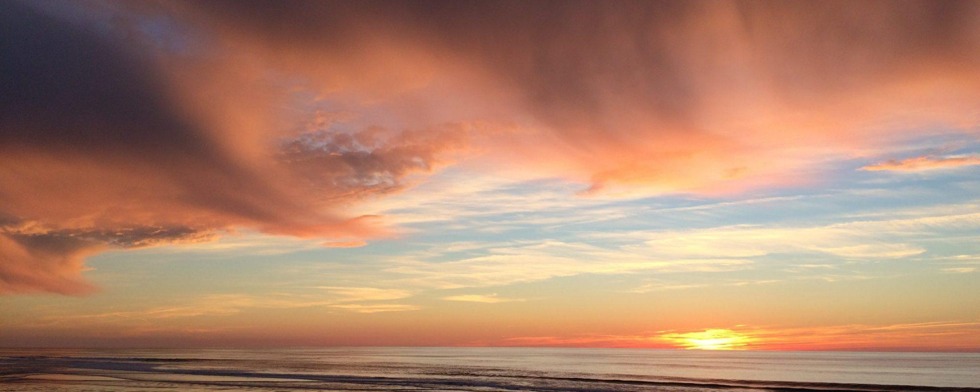 Coucher de soleil à l'océan